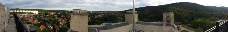 Panorama from castle in Miskolc