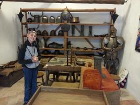 Elijah enjoying the armory
