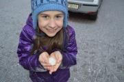 Little Eryn's tiny snowball