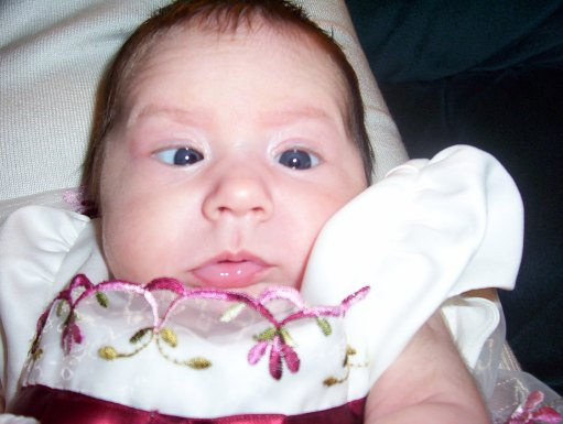 Eryn was about a month old