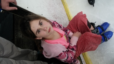 Ice skating in tiring
