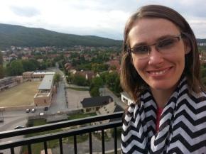 Masey at the top of Diósgyőr Castle