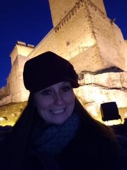 My sister goofing around at Diósgyőr Castle